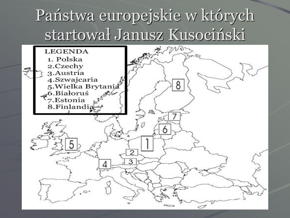 Państwa europejskie w których startował Janusz Kusociński