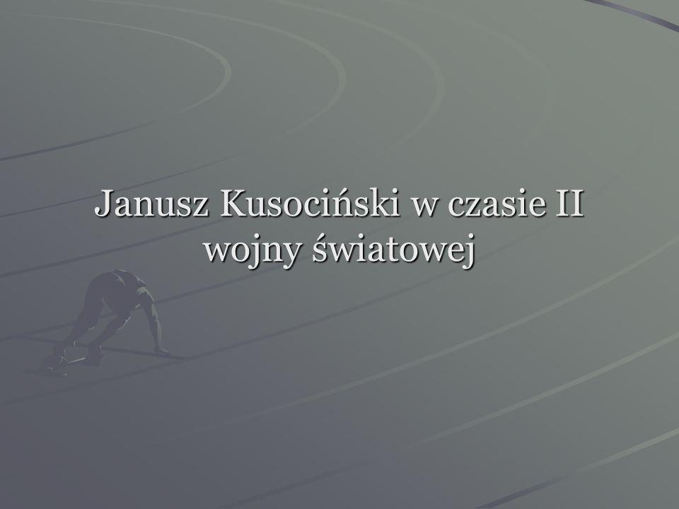 Janusz Kusociński w czasie II wojny światowej