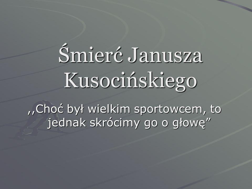 Śmierć Janusza Kusocińskiego