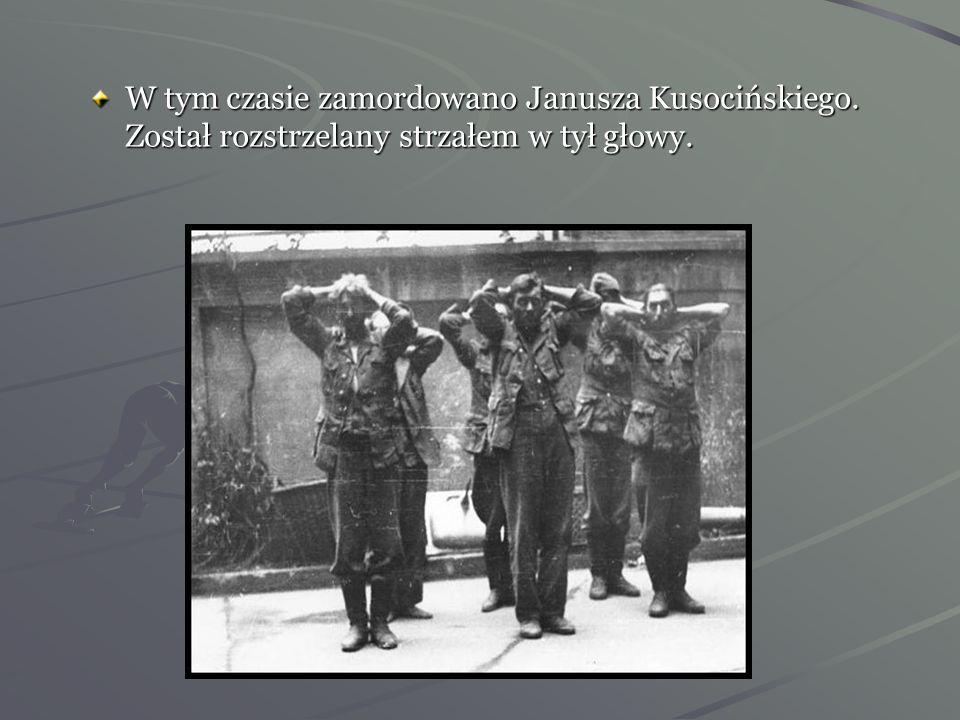 W tym czasie zamordowano Janusza Kusocińskiego