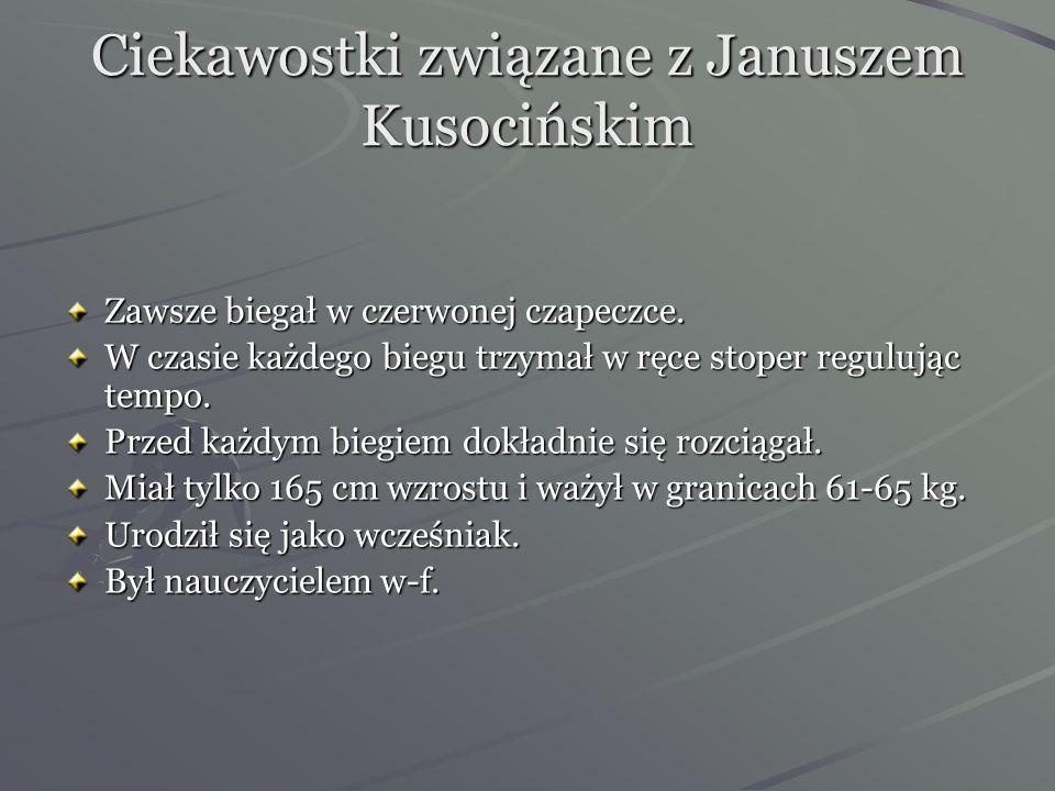 Ciekawostki związane z Januszem Kusocińskim
