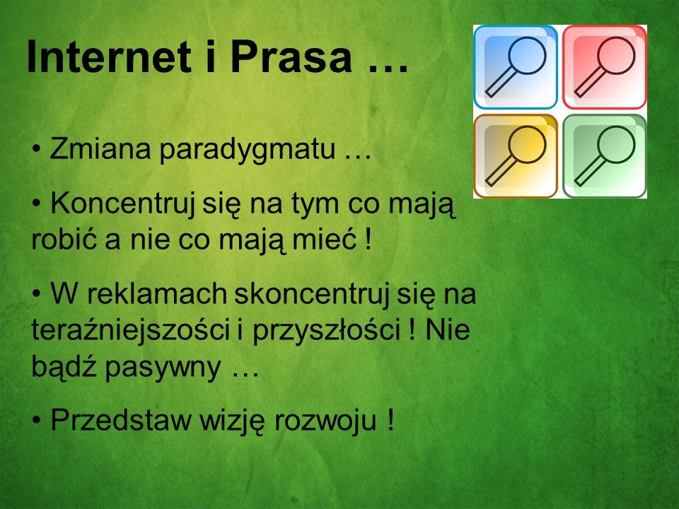 Internet i Prasa … Zmiana paradygmatu …