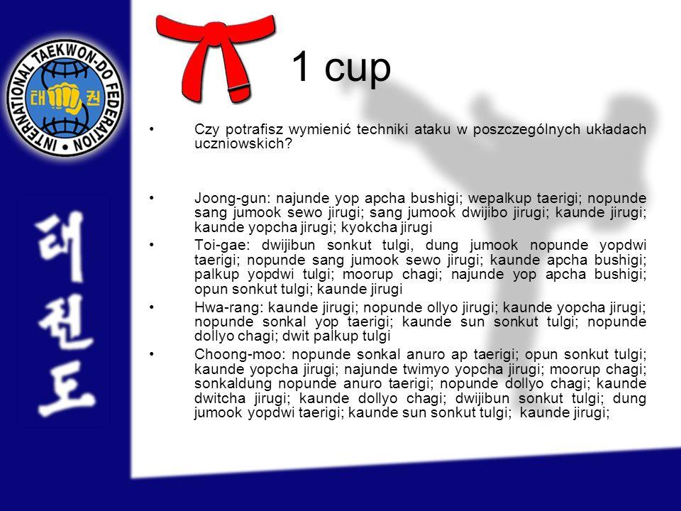 1 cup Czy potrafisz wymienić techniki ataku w poszczególnych układach uczniowskich
