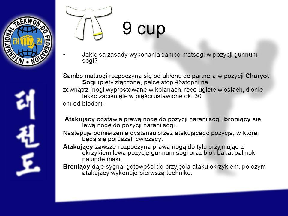 9 cup Jakie są zasady wykonania sambo matsogi w pozycji gunnum sogi