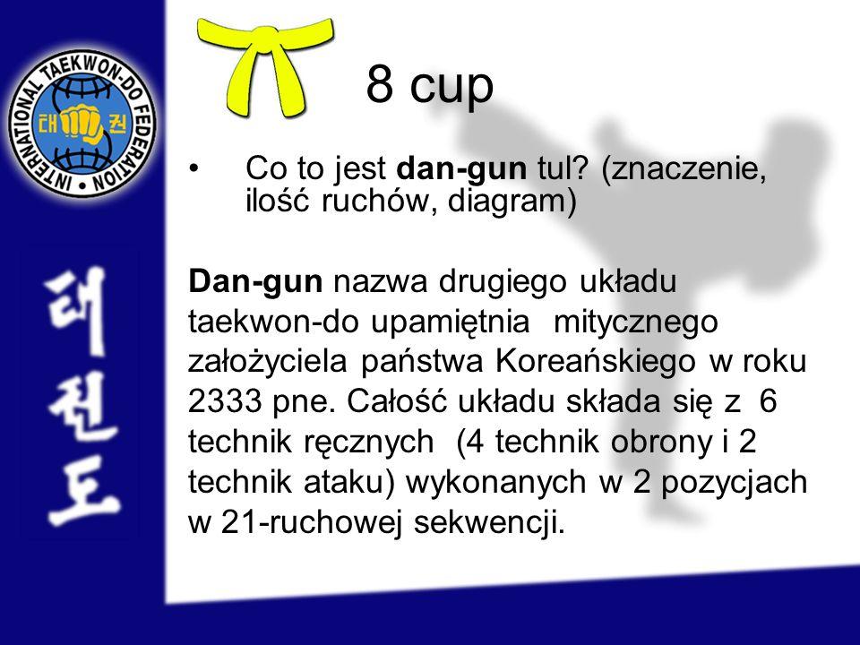8 cup Co to jest dan-gun tul (znaczenie, ilość ruchów, diagram)