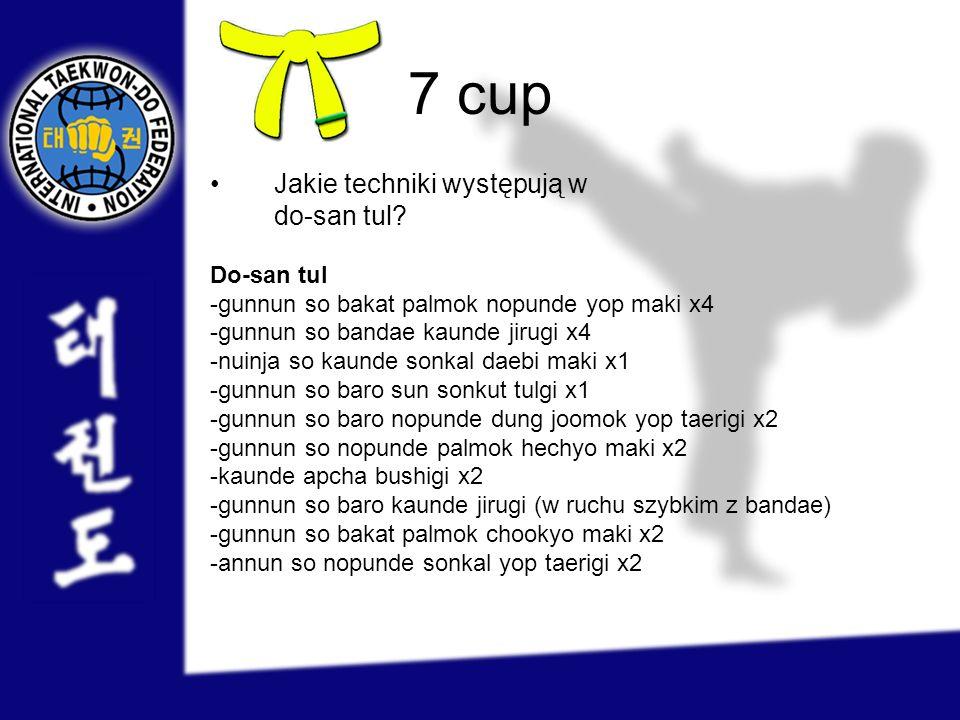 7 cup Jakie techniki występują w do-san tul Do-san tul