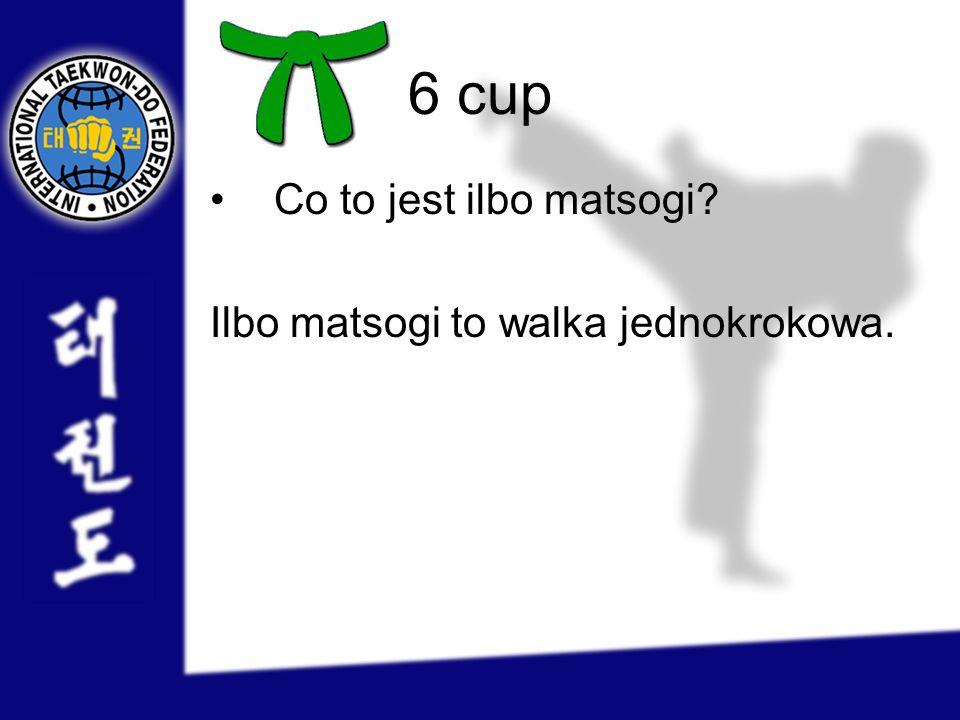 6 cup Co to jest ilbo matsogi Ilbo matsogi to walka jednokrokowa.