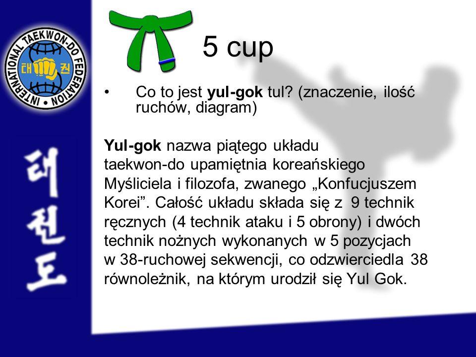 5 cup Co to jest yul-gok tul (znaczenie, ilość ruchów, diagram)