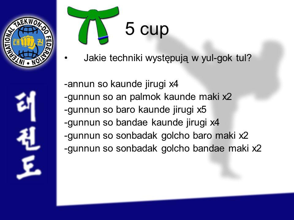 5 cup Jakie techniki występują w yul-gok tul