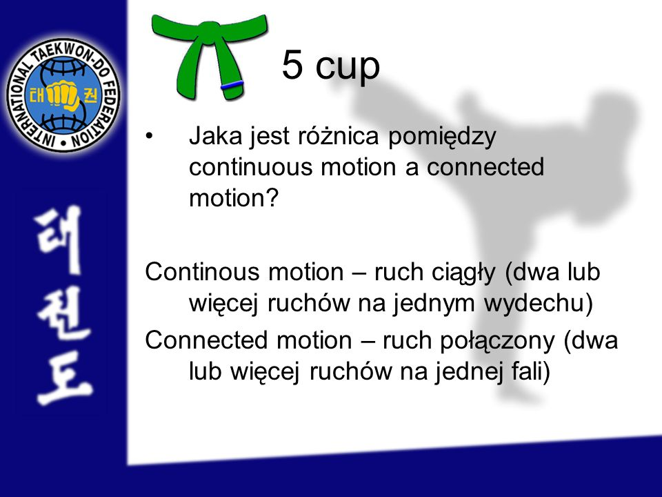 5 cup Jaka jest różnica pomiędzy continuous motion a connected motion