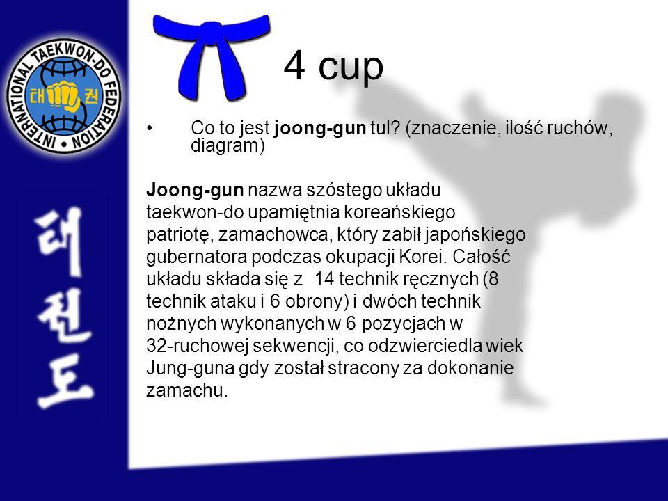 4 cup Co to jest joong-gun tul (znaczenie, ilość ruchów, diagram)
