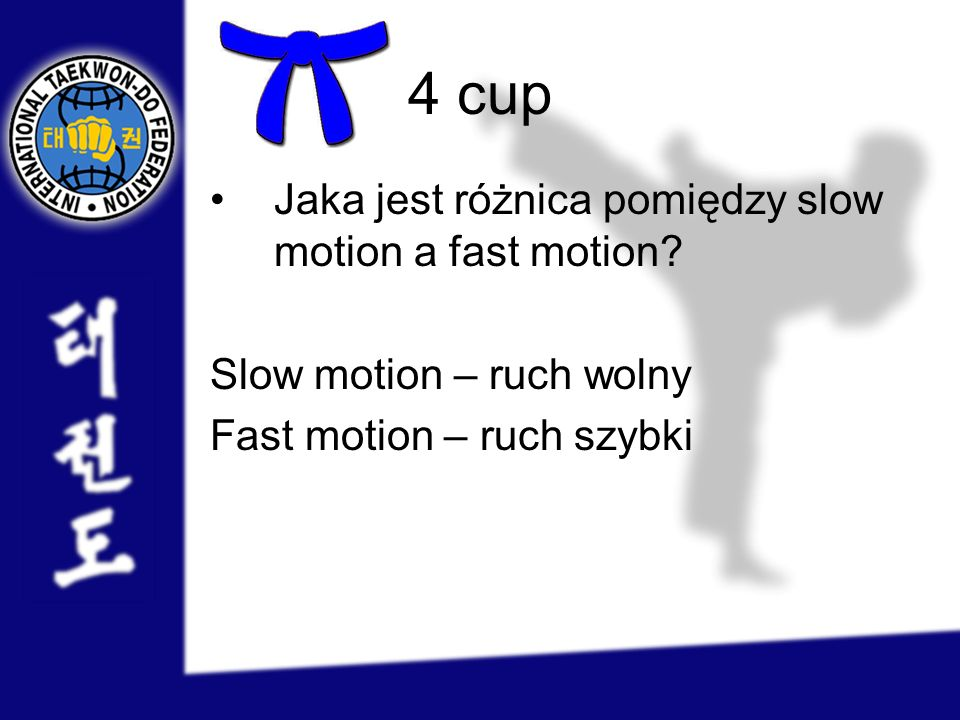 4 cup Jaka jest różnica pomiędzy slow motion a fast motion