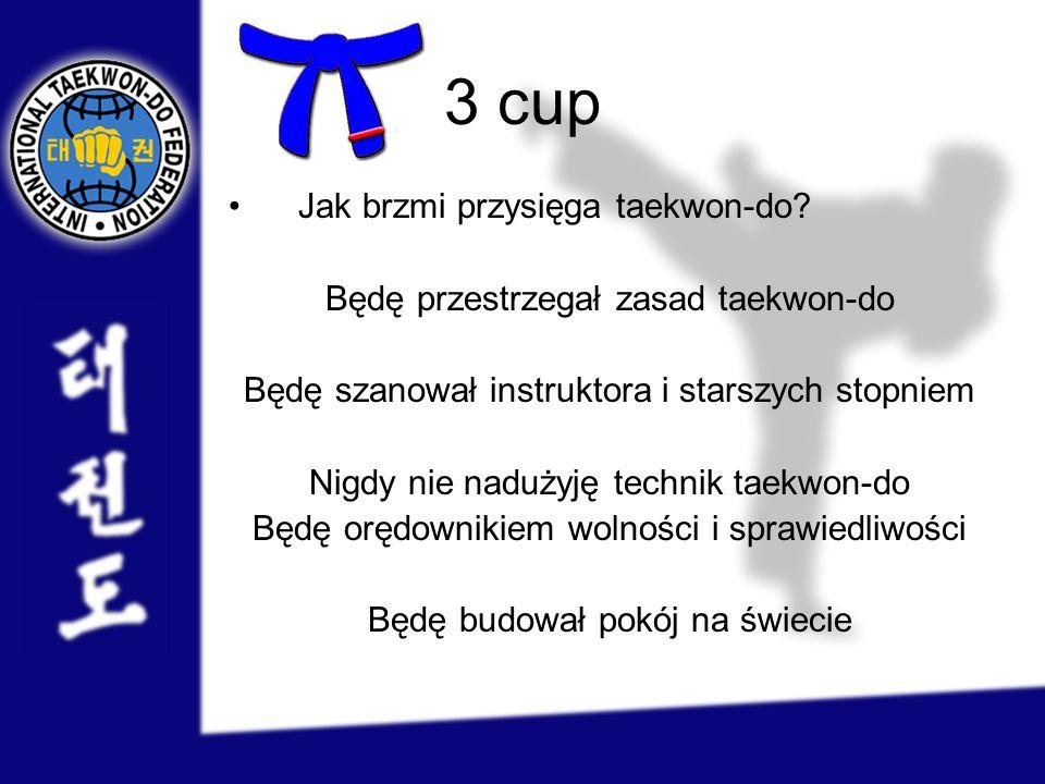 3 cup Jak brzmi przysięga taekwon-do