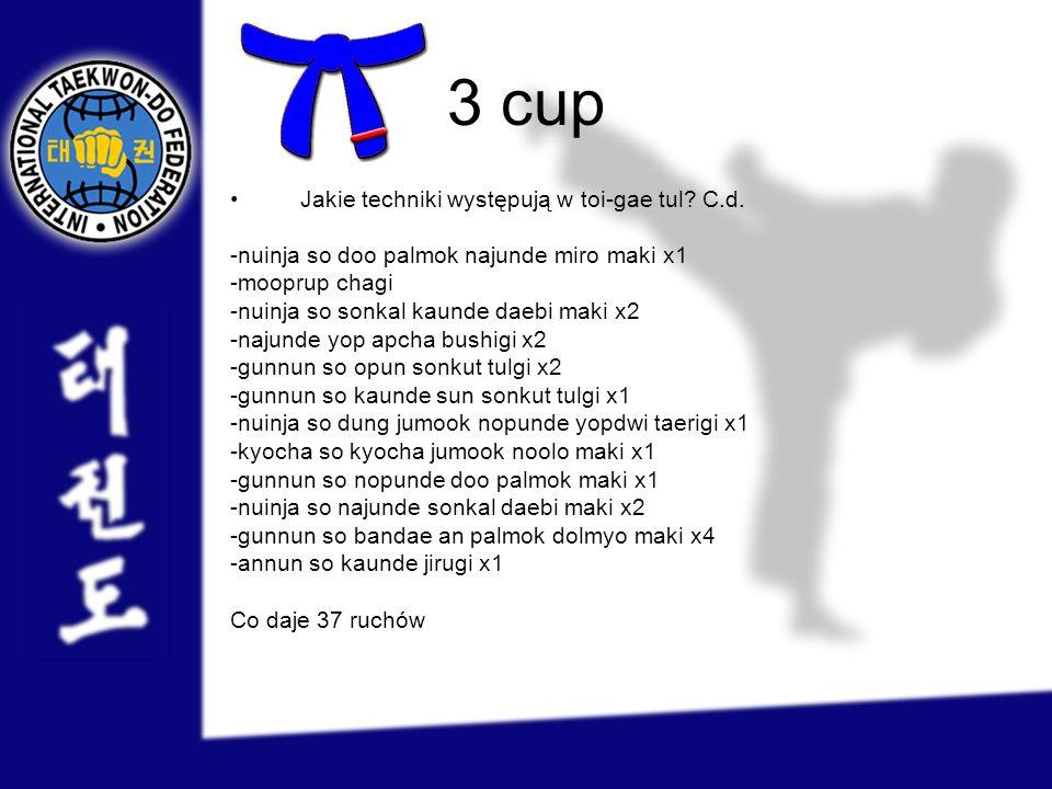 3 cup Jakie techniki występują w toi-gae tul C.d.