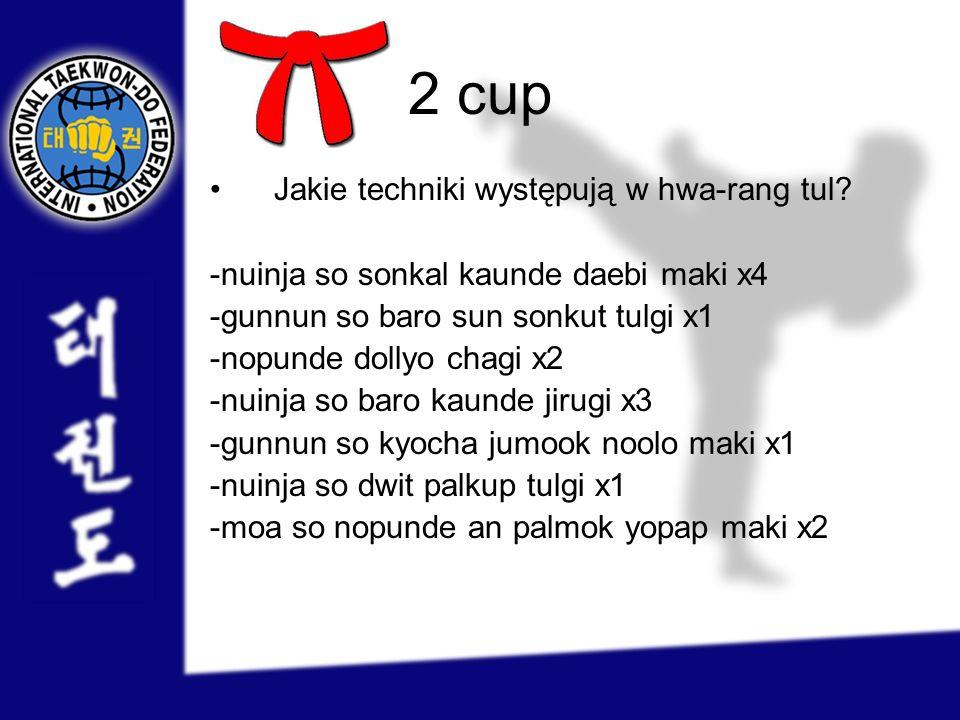 2 cup Jakie techniki występują w hwa-rang tul