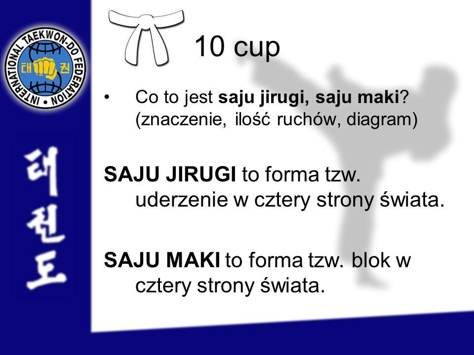 10 cup SAJU JIRUGI to forma tzw. uderzenie w cztery strony świata.
