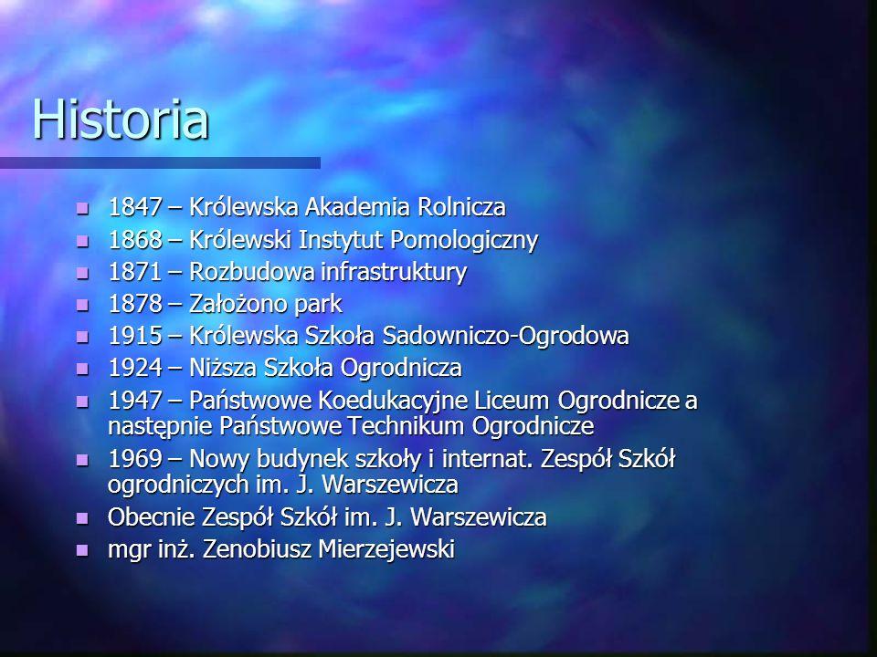 Historia 1847 – Królewska Akademia Rolnicza