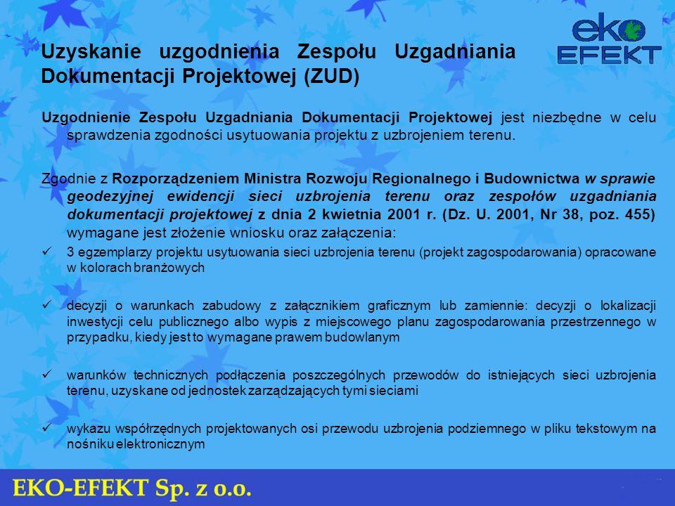 Uzyskanie uzgodnienia Zespołu Uzgadniania Dokumentacji Projektowej (ZUD)