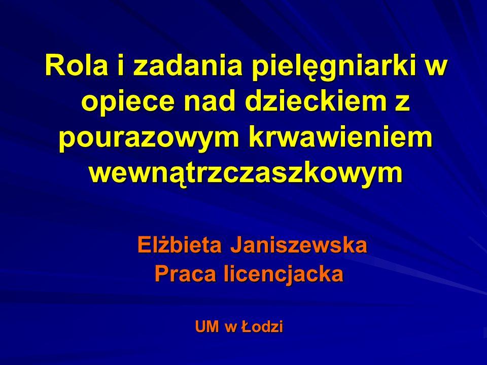 Elżbieta Janiszewska Praca licencjacka UM w Łodzi