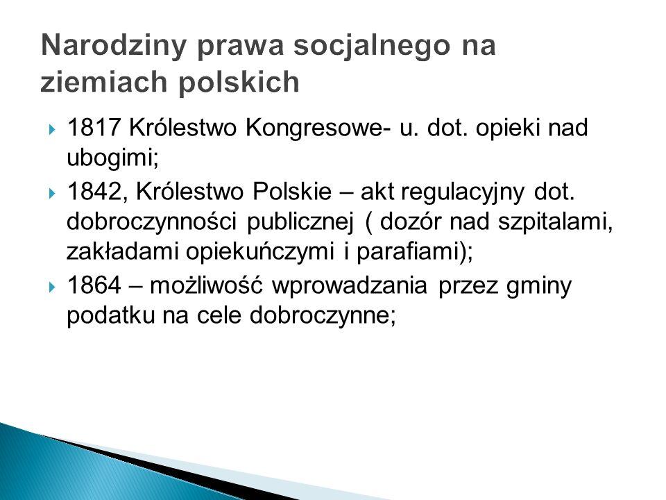 Narodziny prawa socjalnego na ziemiach polskich