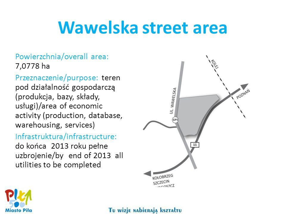 Wawelska street area Powierzchnia/overall area: 7,0778 ha