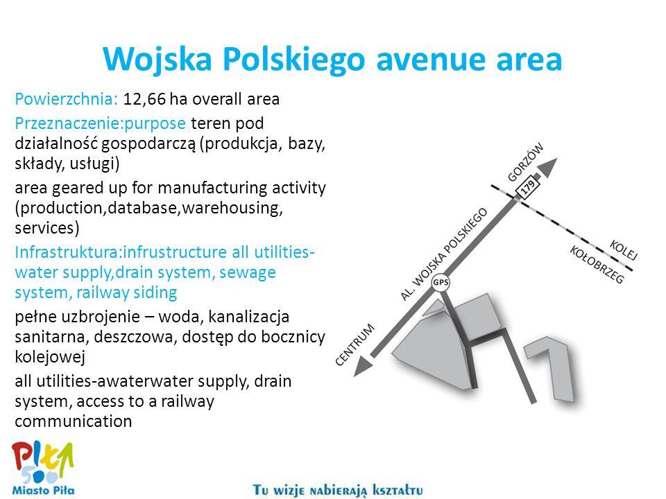 Wojska Polskiego avenue area