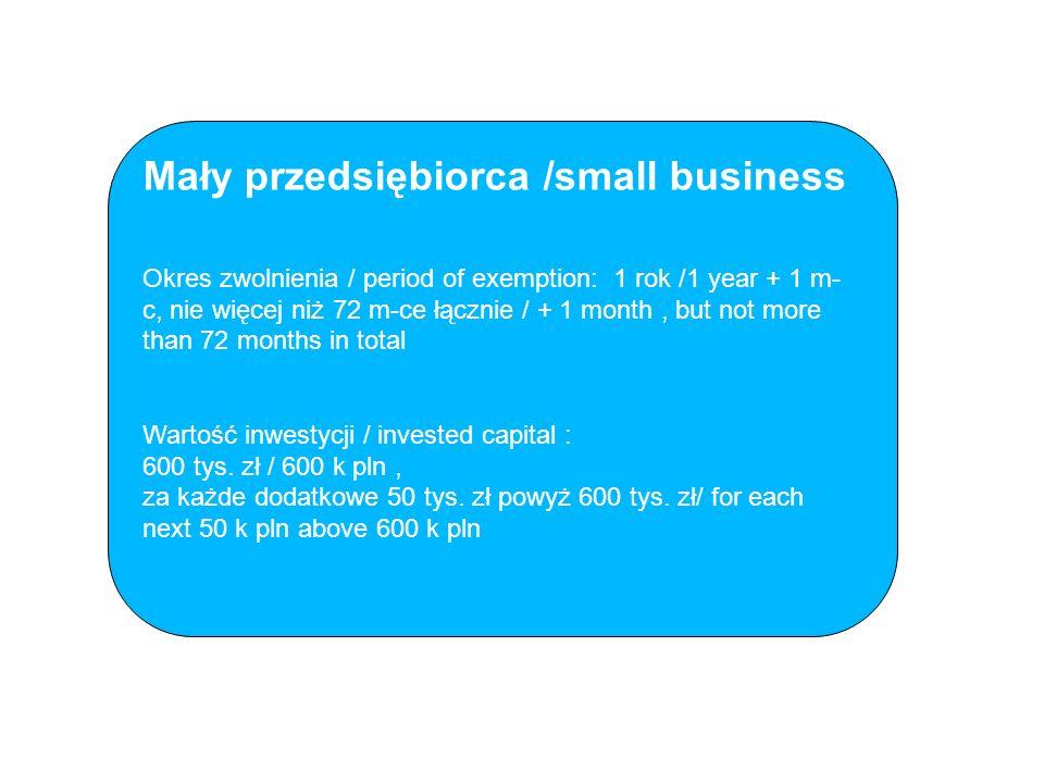 Mały przedsiębiorca /small business