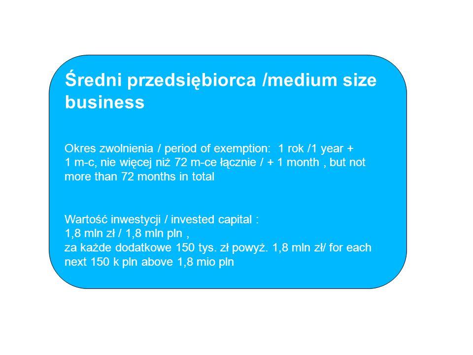 Średni przedsiębiorca /medium size business