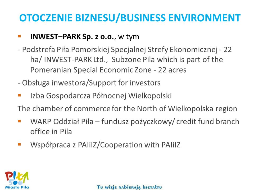 OTOCZENIE BIZNESU/BUSINESS ENVIRONMENT
