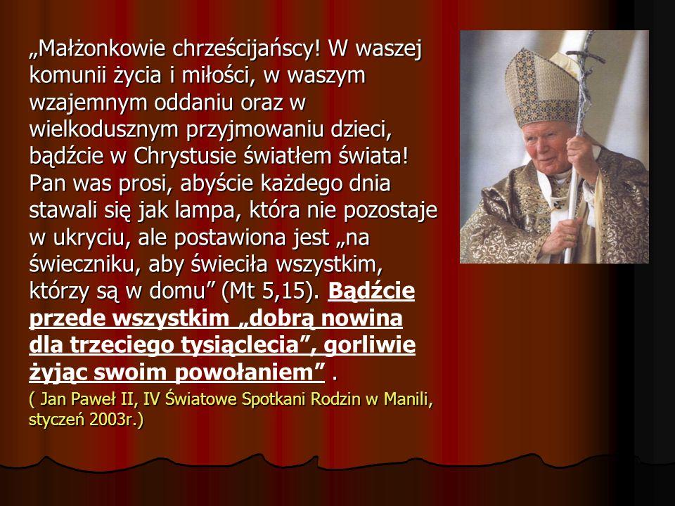 """""""Małżonkowie chrześcijańscy"""