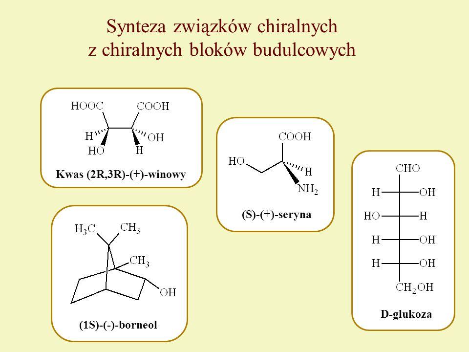 Synteza związków chiralnych z chiralnych bloków budulcowych