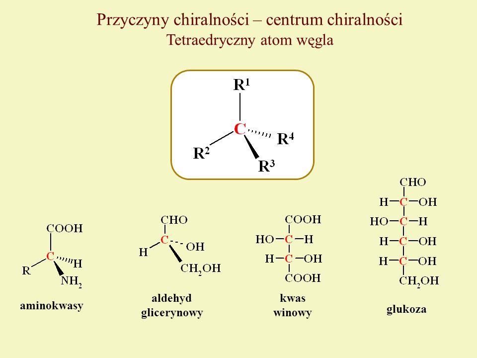 Przyczyny chiralności – centrum chiralności