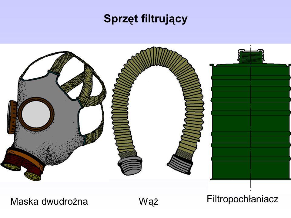 Sprzęt filtrujący Filtropochłaniacz Maska dwudrożna Wąż