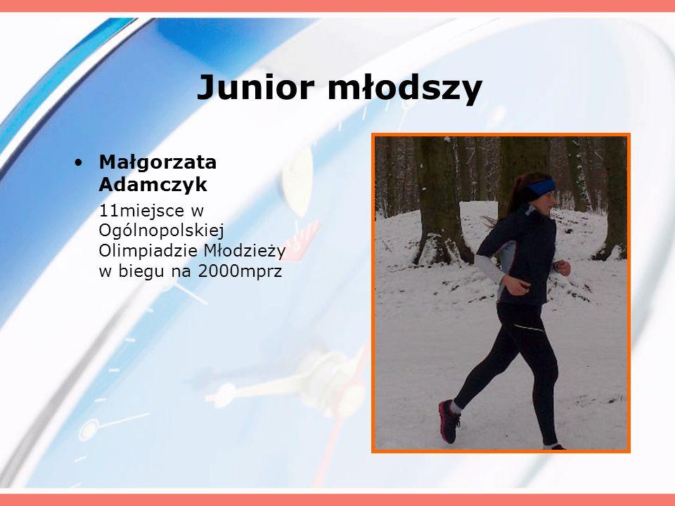 Junior młodszy Małgorzata Adamczyk
