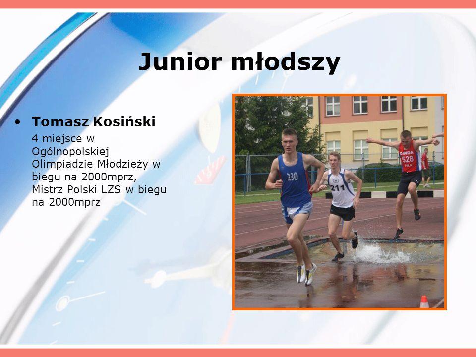 Junior młodszy Tomasz Kosiński