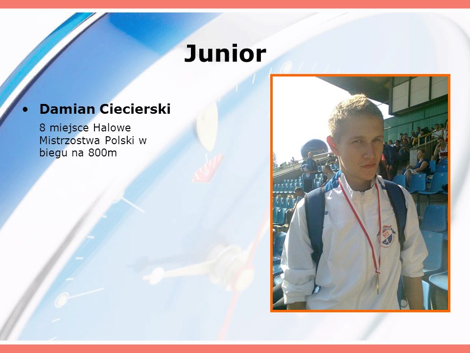 Junior Damian Ciecierski