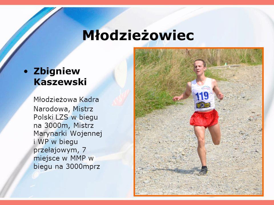 Młodzieżowiec Zbigniew Kaszewski.