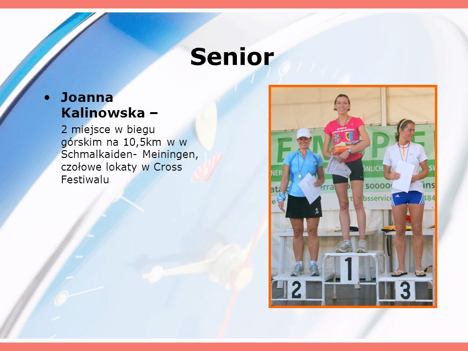 Senior Joanna Kalinowska –