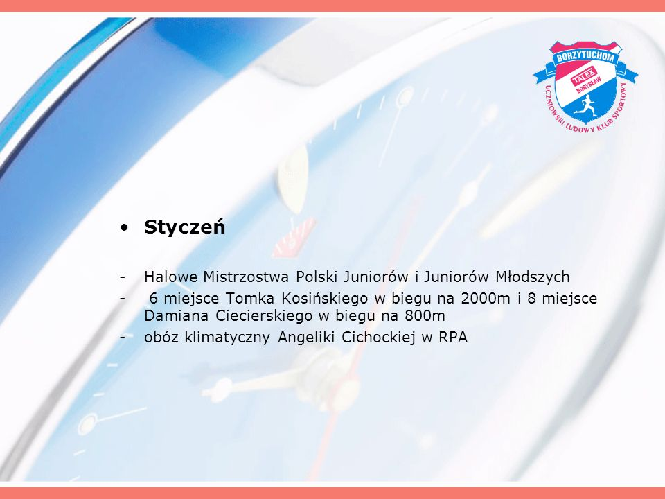 Styczeń Halowe Mistrzostwa Polski Juniorów i Juniorów Młodszych