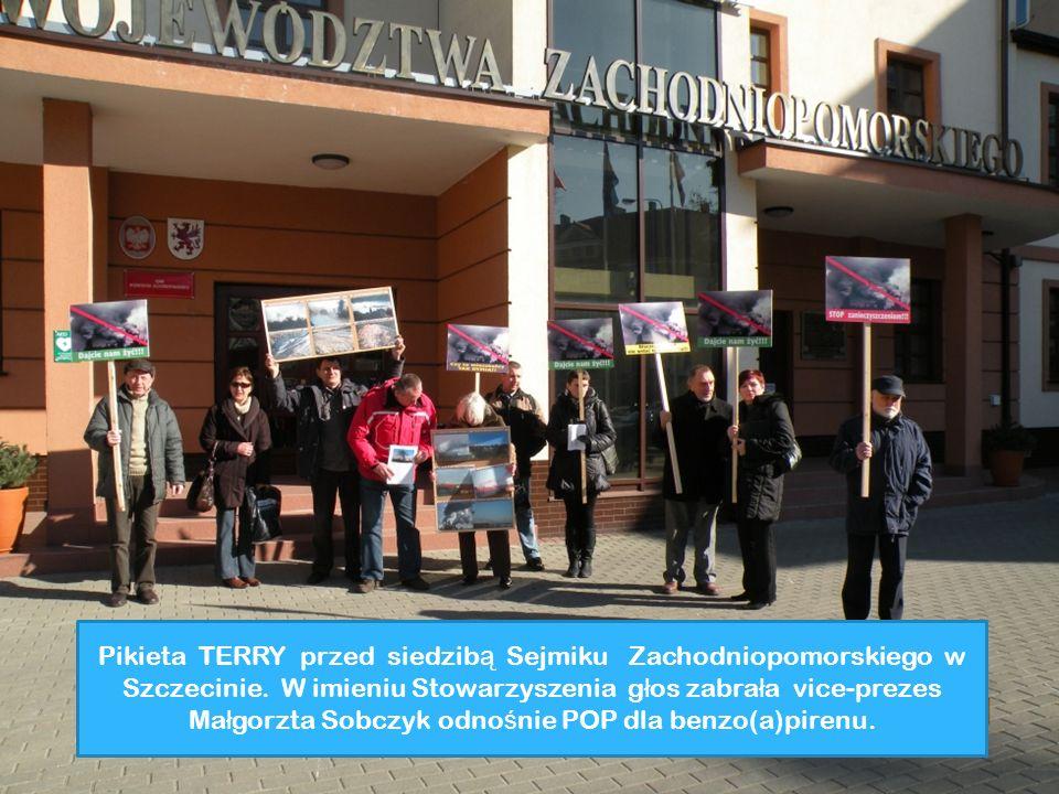 Pikieta TERRY przed siedzibą Sejmiku Zachodniopomorskiego w Szczecinie