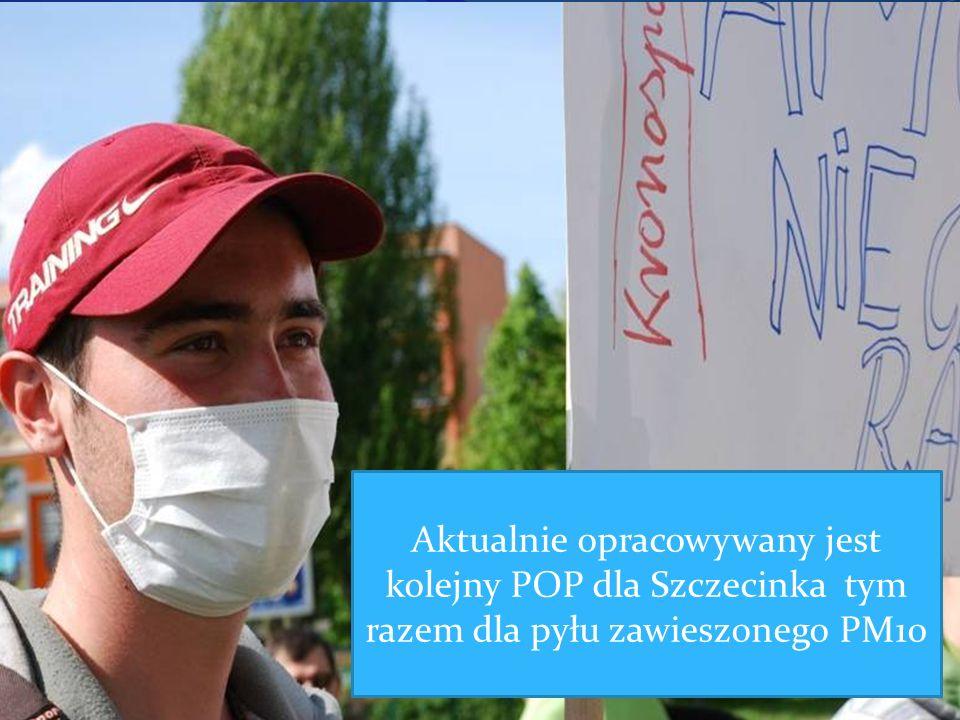 Aktualnie opracowywany jest kolejny POP dla Szczecinka tym razem dla pyłu zawieszonego PM10