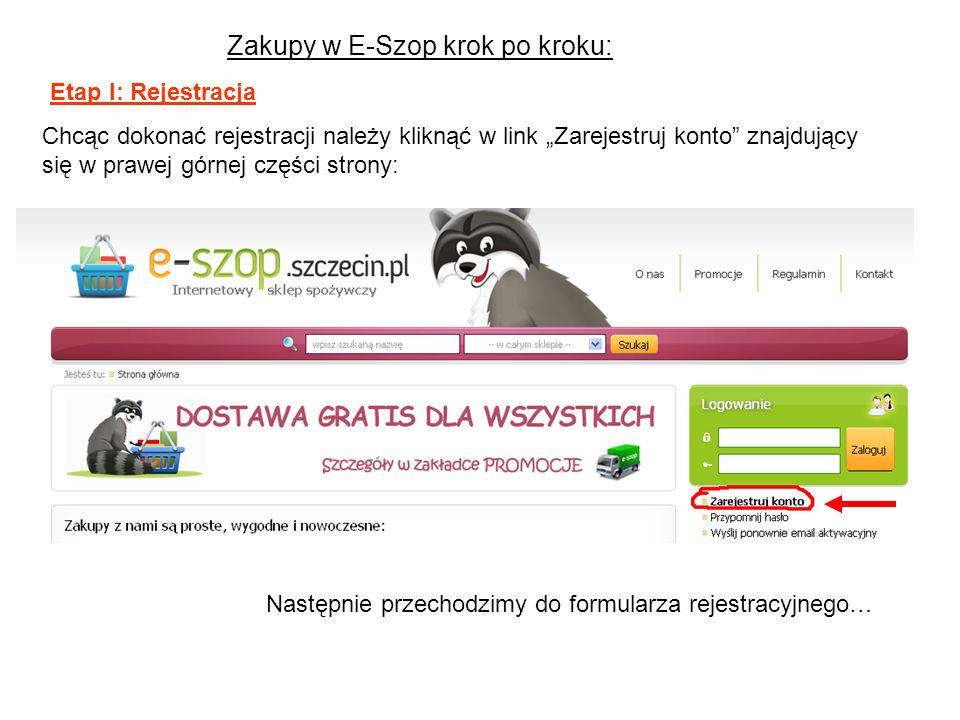 Zakupy w E-Szop krok po kroku: