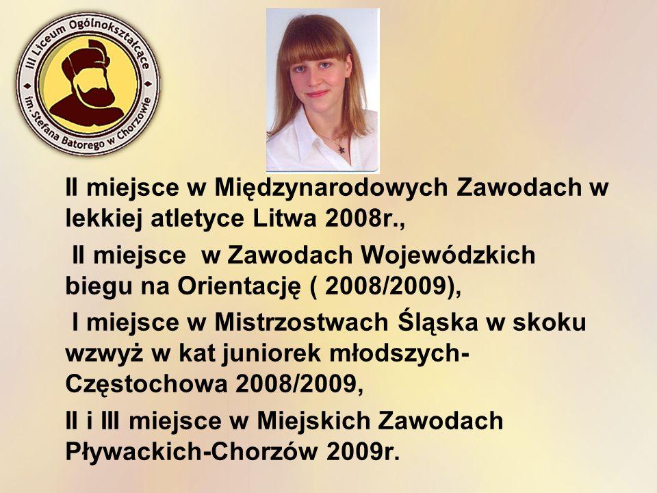 II miejsce w Międzynarodowych Zawodach w lekkiej atletyce Litwa 2008r