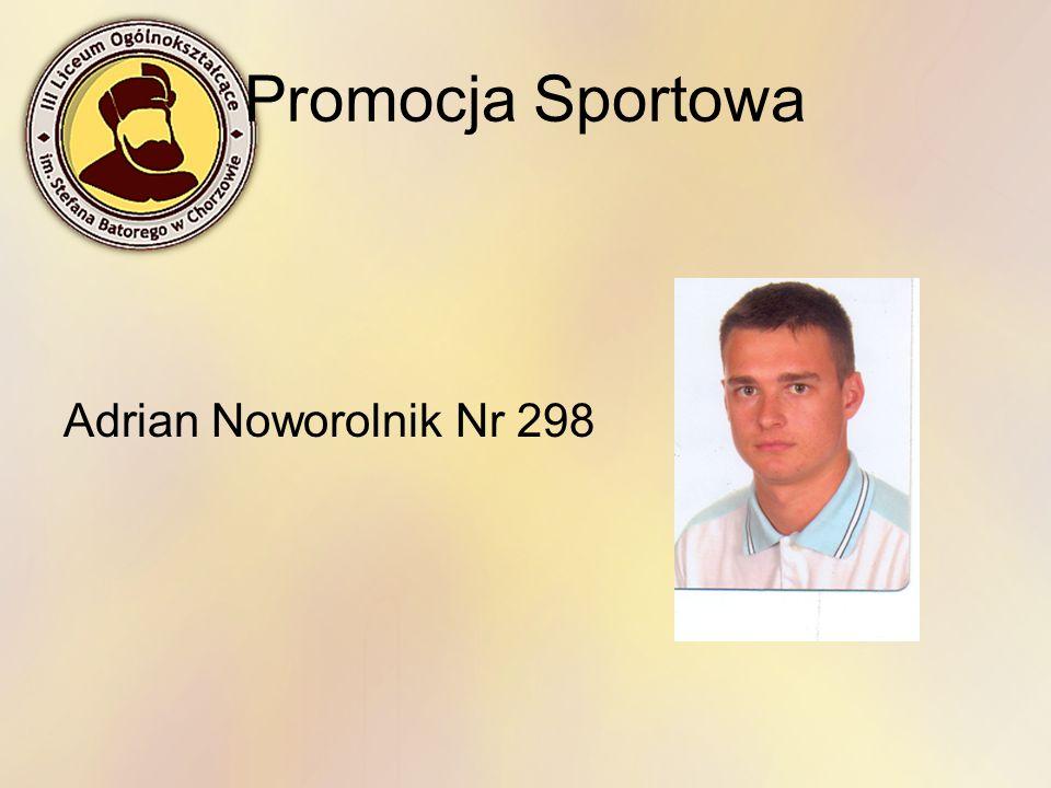 Promocja Sportowa Adrian Noworolnik Nr 298