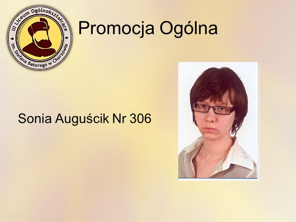 Promocja Ogólna Sonia Auguścik Nr 306