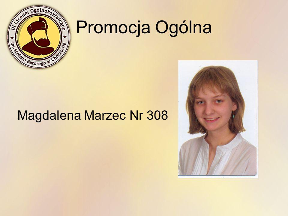 Promocja Ogólna Magdalena Marzec Nr 308