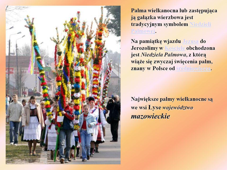 Palma wielkanocna lub zastępująca ją gałązka wierzbowa jest tradycyjnym symbolem Niedzieli Palmowej.