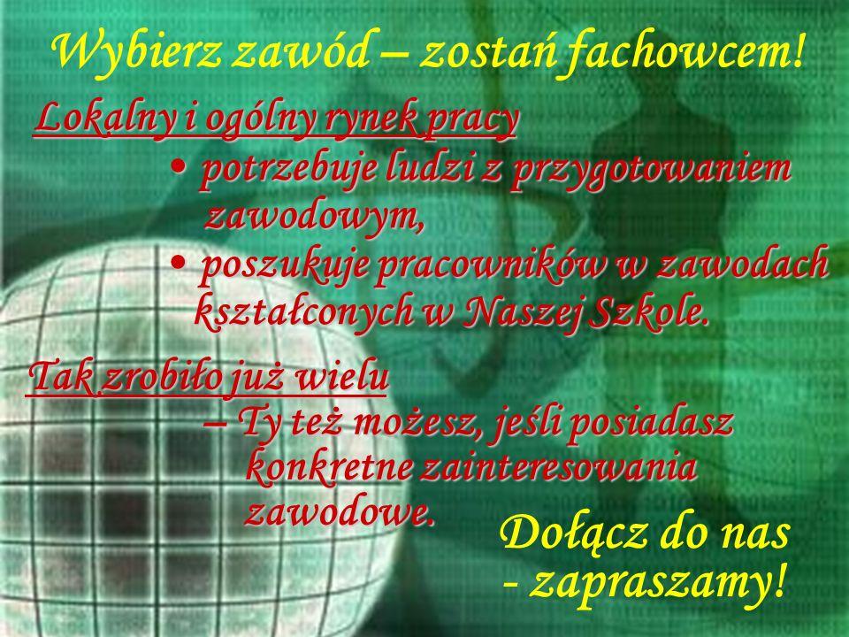 Wita Ciebie Zasadnicza Szkoła Zawodowa Nr 2 w Choszcznie