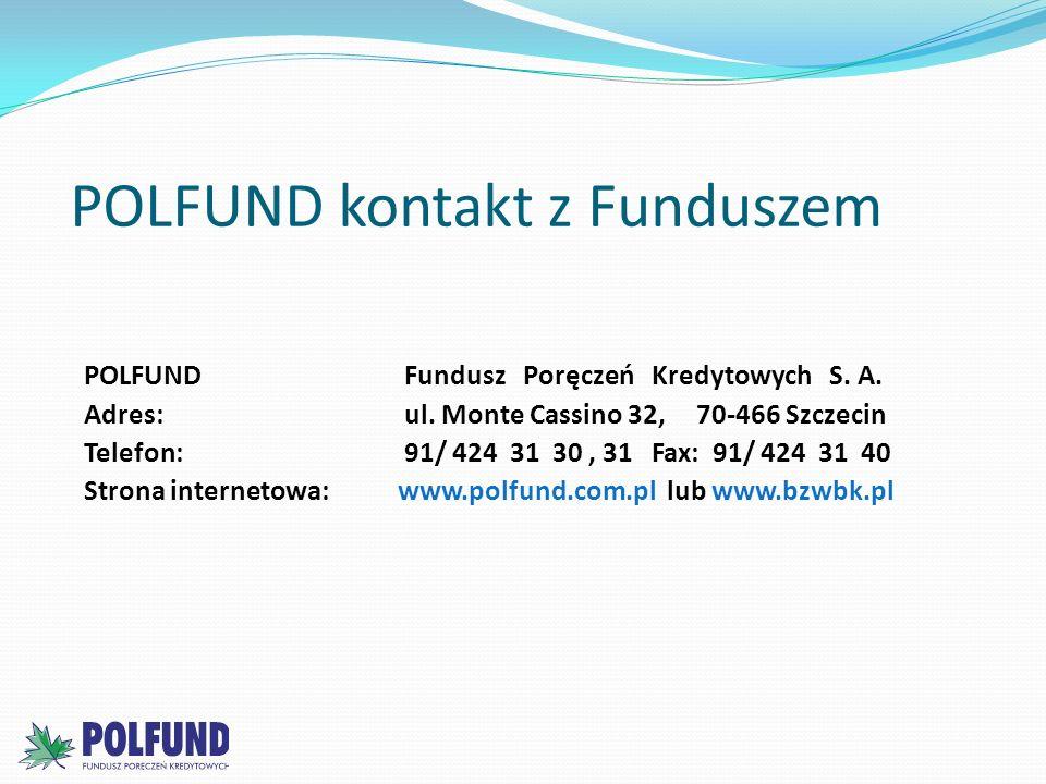 POLFUND kontakt z Funduszem