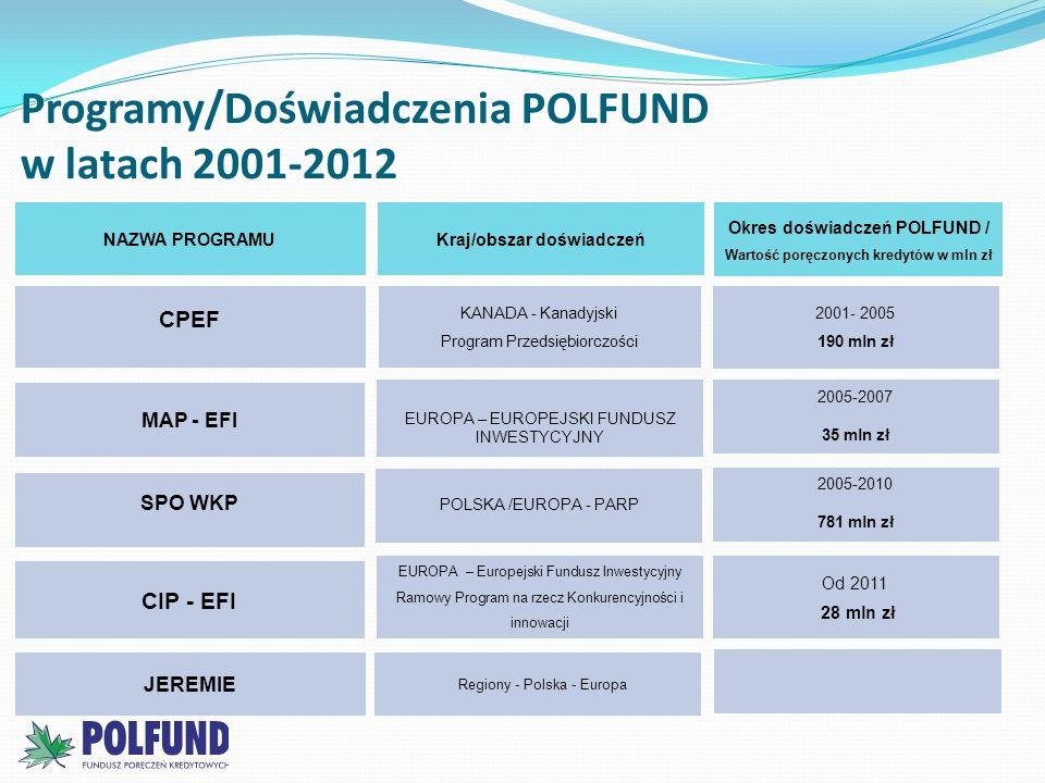 Programy/Doświadczenia POLFUND w latach 2001-2012